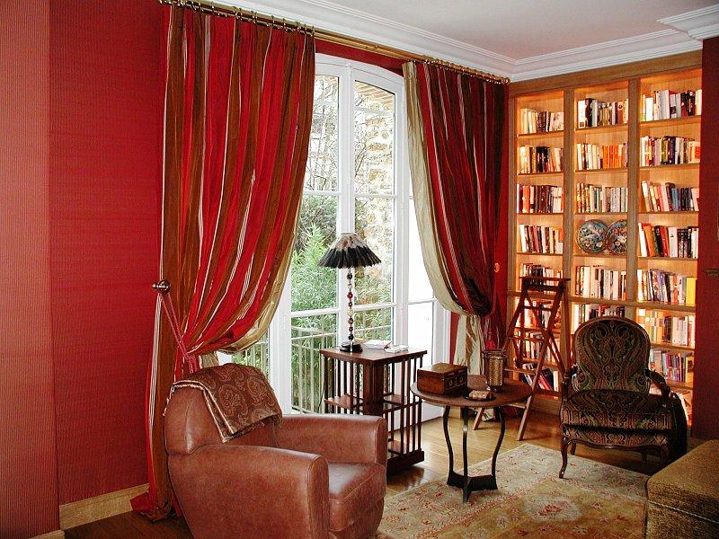 Coulon et fils decorations classiques 2 rideaux tentures for Decoration rideaux et voilages